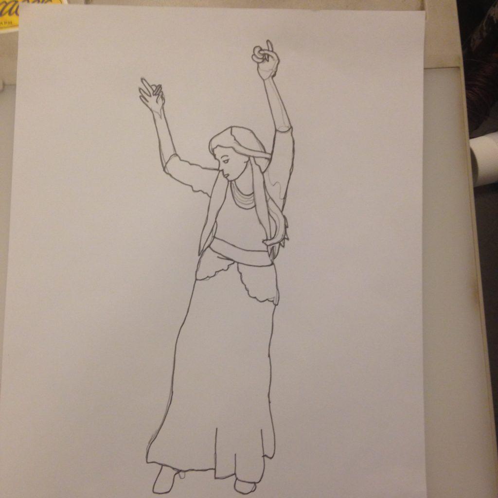 Deb Dance Raw Sketch